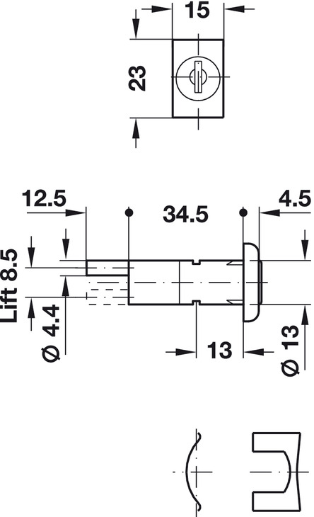 Central locking rotary cylinder lock, with plate cylinder