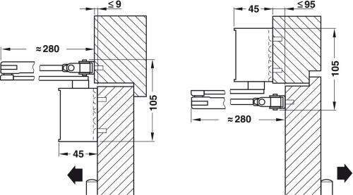 small resolution of adjustment of the door closer to size en 3 or en 4 by turning the arm hinge