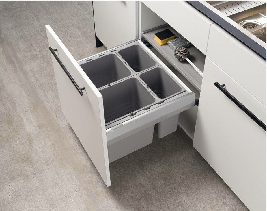 blum kitchen bins chandelier for two compartment waste bin tandembox 2 x 8 litres 1x and 1 17