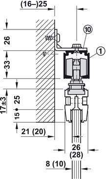 sliding door fitting, Häfele Slido Classic 80-L, set