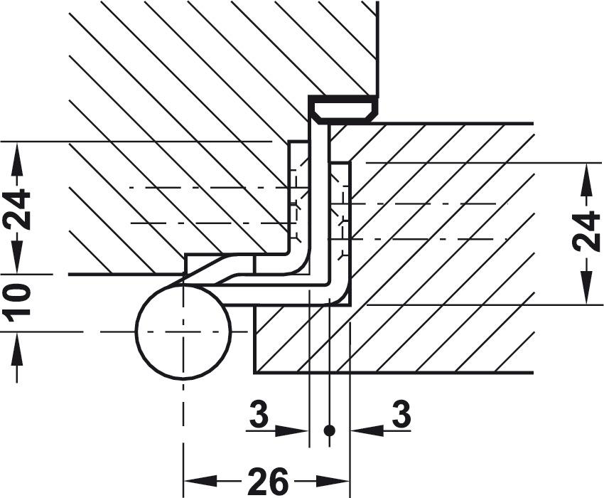 Aufschraubband, Größe 100 mm, Türgewicht ≤60 kg, für
