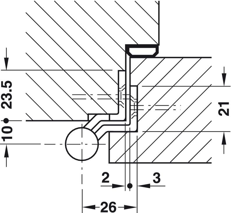 Aufschraubband, Größe 140 mm, Türgewicht ≤40 kg, für