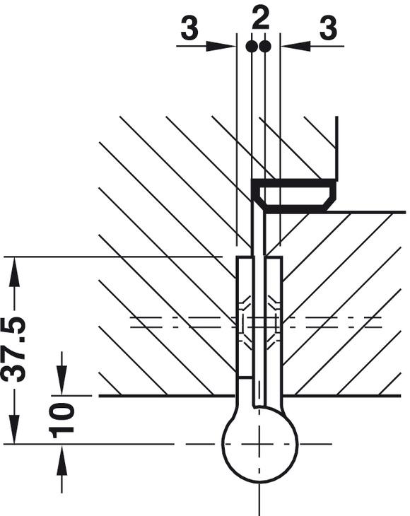 Aufschraubband, Größe 160 mm, Türgewicht ≤50 kg, für