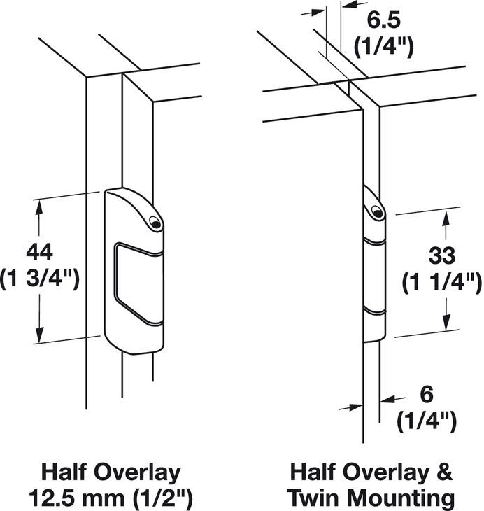 Single Pivot Institutional Hinge Arm, Aximat® 300, Grade 1