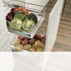 Kitchen Pull Out Shelves Granite Composite Sink Living Commercial Solutions Storage From Hafele Uk