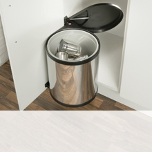 blum kitchen bins stainless island living commercial solutions hafele u k shop swing out for hinged door