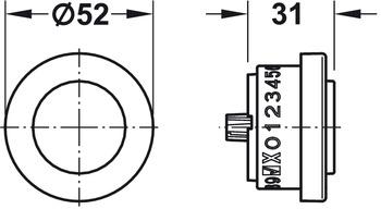 Combination Lock, FL 112, Surface Mounted, Symo 3000