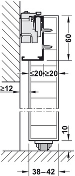Complete Set, for 1 Sliding Interior Door, Slido Design 80