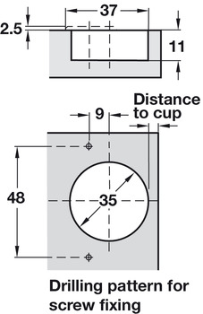 Concealed Cup Hinge, 170° Nexis, Sprung, Full Overlay