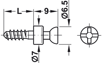 Connecting Bolt, for Aerofix 100, with Special Thread, S20