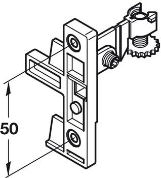 Fixing Component Set, for Moulded Plastic Drawer System