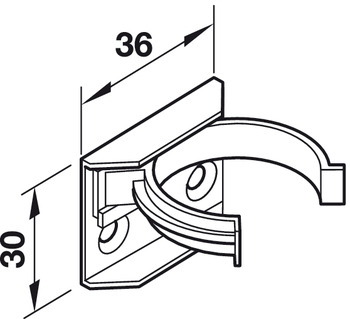 Plinth Clip and Bracket, for Adjustable Plinth Feet, Screw
