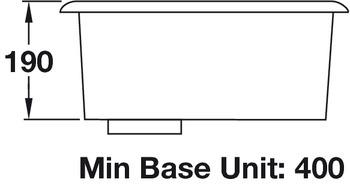 Sink, Single Bowl, Rangemaster Atlantic Classic UB35