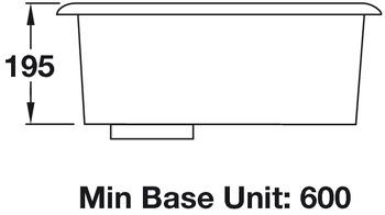 Sink, Single Bowl, Rangemaster Atlantic Quad QUB48