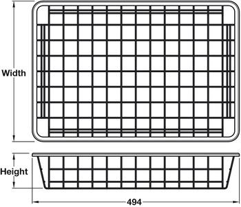 Wardrobe Basket, Depth 494 mm, Load Capacity 15 kg, Steel