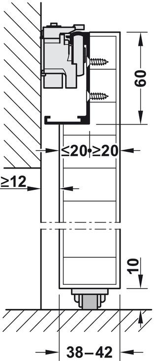Complete Set, for 1 Sliding Interior Door, Slido Design 80