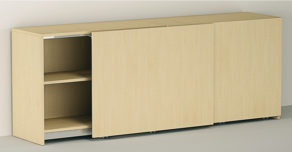 Fitting Set for Flush Sliding Cabinet Doors EkuFrontino