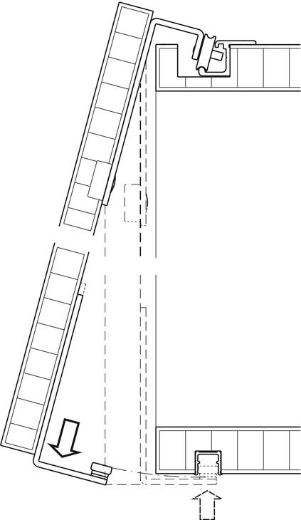 Fitting Set, for Sliding Cabinet Doors, Eku-Regal A 25 H
