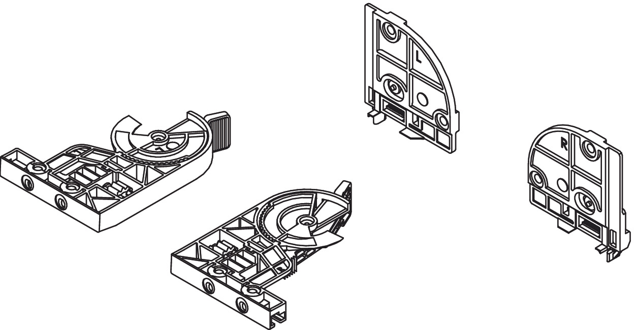 Front and Rear Fixing Clips, 3D Adjustment, for Dynapro