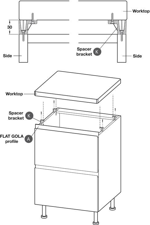 Profile Handle, Anodised Aluminium, Horizontal Door
