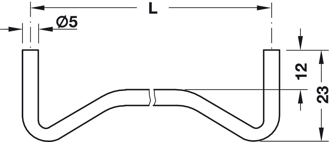 Shelf Support, Plug in, for Wooden Shelves, for Ø 4 or 5
