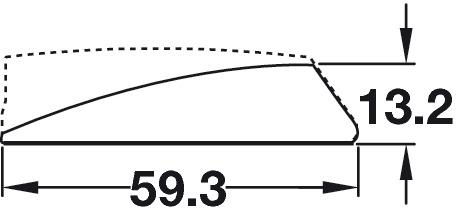 Surface Mount, Short Version, for K Push Tech Door Catch