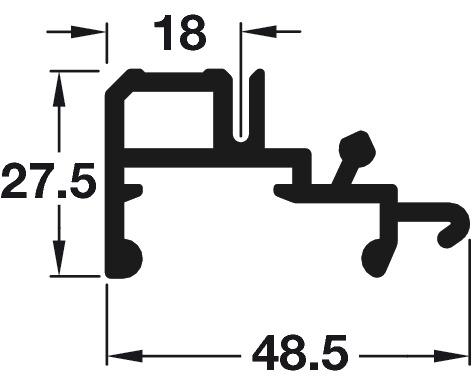 Top and Bottom Guide Rails, for Flush Sliding Wardrobe