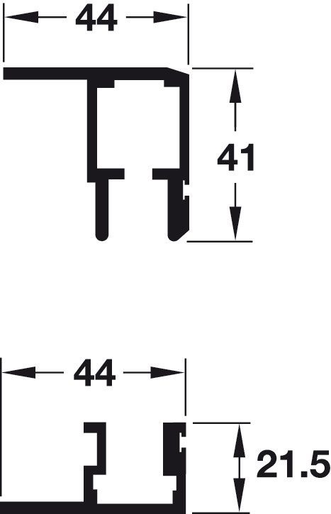 Top Track and Lower Guide Channel, for Folding Cabinet