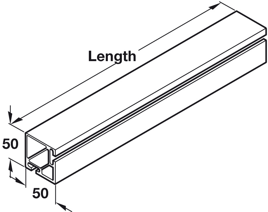 Wall Bar Profile and Spindle, for Flexibasic and Flexi