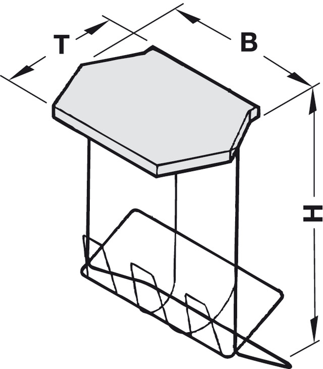 Wire Bin Frame, with Lid for Holding Rolls of Bin Bags