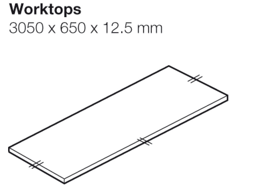 Worktop, Stone Gris, Apollo® Compact Solid Grade Laminate