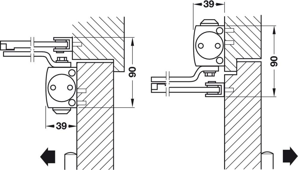 medium resolution of standard installation on pull side