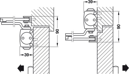 small resolution of standard installation on pull side