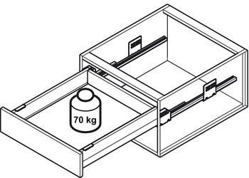 MX Pot Drawer, Häfele Matrix Box P70, with panel holder