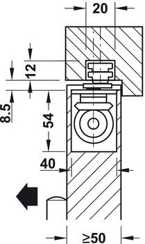 Door closers, Boxer, EN 3–6, concealed, with mechanical