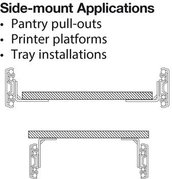 Accuride 9301 Heavy Duty Side/Bottom Mounted Slide, Full