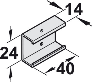 Clip-on Adapter for Wood Fascia, EKU Combino 20 and 35 H