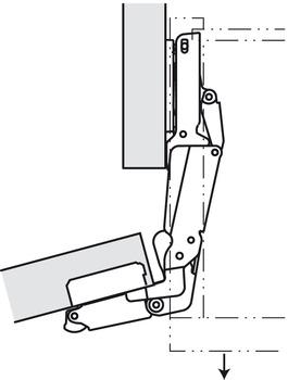 Concealed Hinge, Salice PUSH, 165° Opening Angle, Self