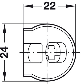 Connector Housing, Rafix 20 System, without Dowel, with