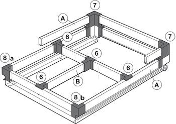Divider Rail, for Grass Zargen Single-Wall Metal Drawer