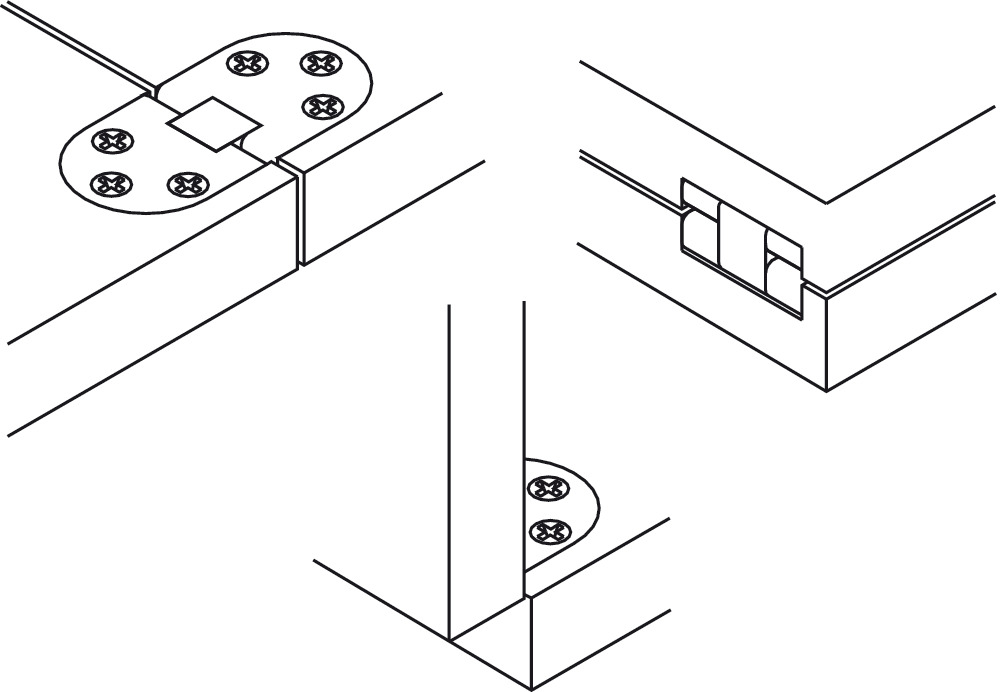Self-Supporting Hinge, for Folding and Sewing Machine