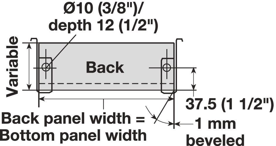 Single-Wall Metal Drawer System, Grass Zargen 6035 (Side