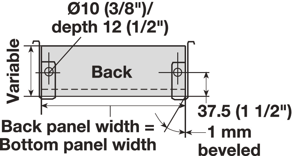 Single-Wall Metal Drawer System, Grass Zargen 6136 (Side