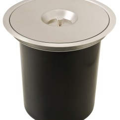 Stainless Steel Kitchen Trash Can Stoves Gas Single Waste Bin, For Flush Or Surface Mounting - In The ...