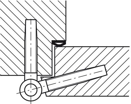 Drill-in hinge, Startec Fl 2, For rebated interior doors