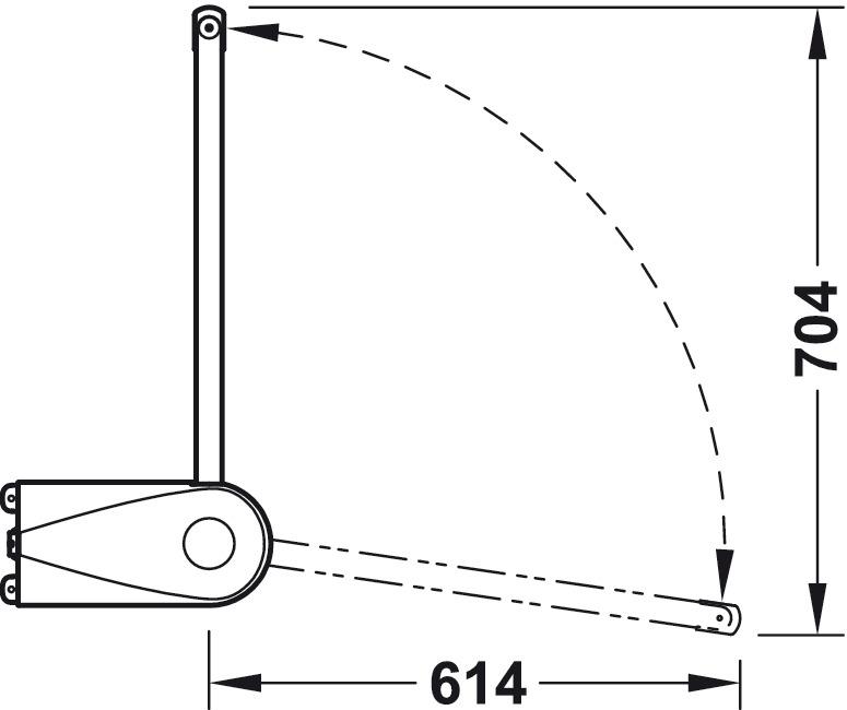 Barra articulada de armario,Capacidad de carga 30 kg