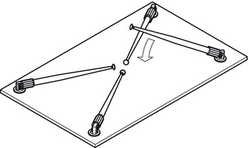 pied de table rondella cylindrique