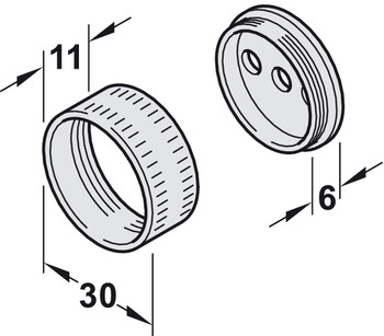 Supports de tringle d'armoire, pour tringle d'armoire