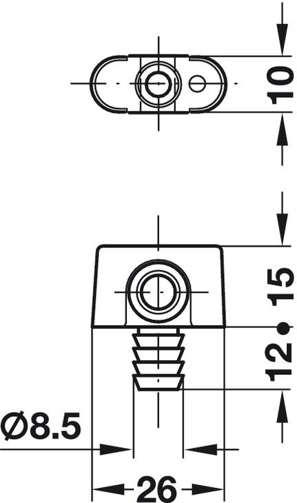 Guide de tringle, pour tringle profilée de serrure