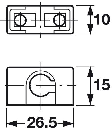 Guide de tringle, pour tringle profilée serrure